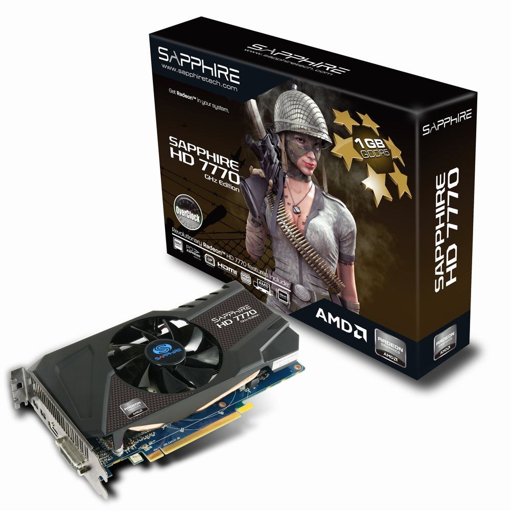 Sapphire radeon hd 7770 ghz edition graphics card radeon hd.