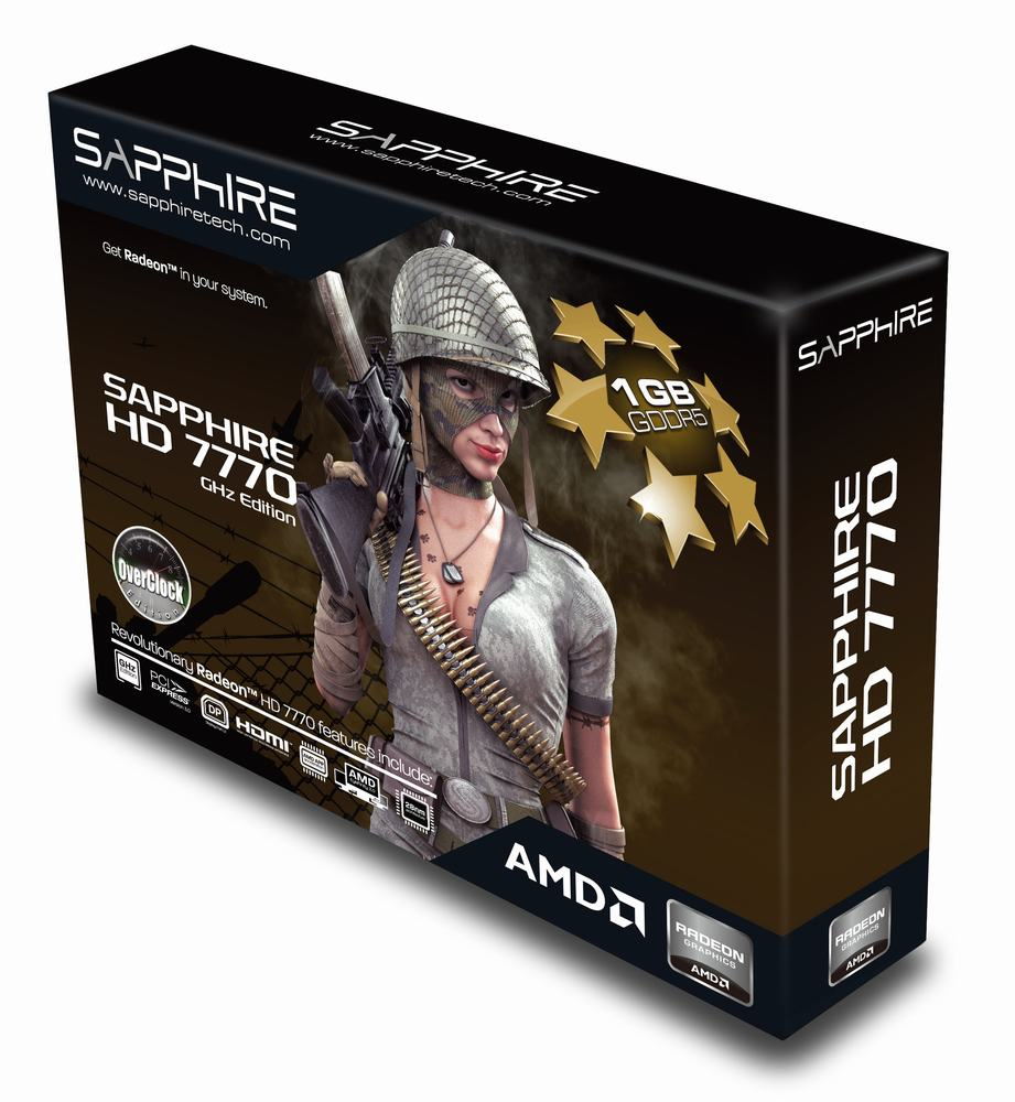 Sapphire radeon hd 7770 ghz edition 1gb 128-bit gddr5 pci express.